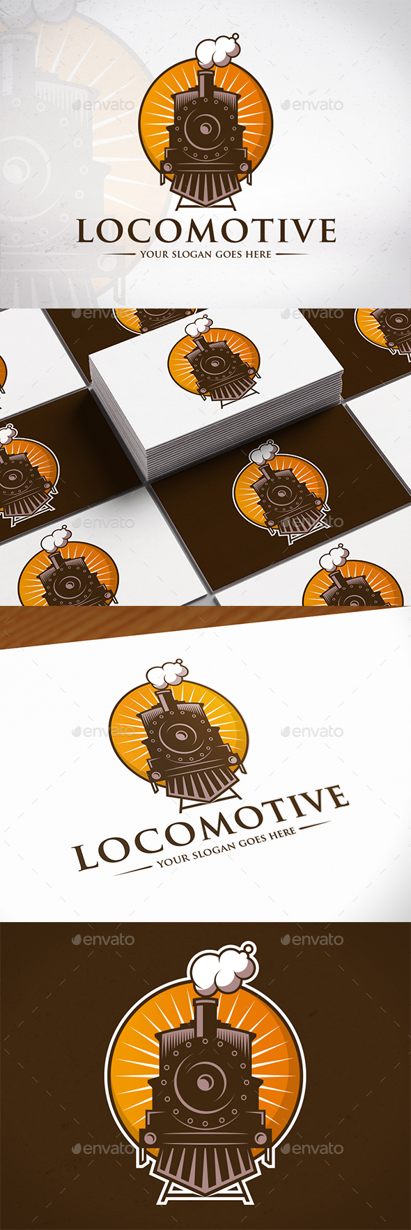 Locomotive Logo Template - Objects Logo Templates