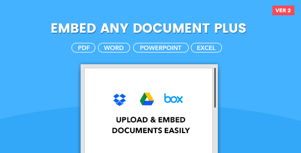 Embed Any Document Plus - WordPress Plugin - CodeCanyon Item for Sale