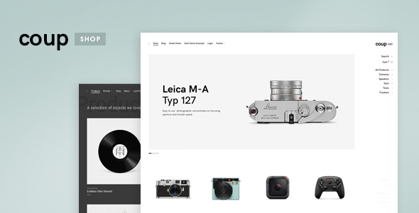 Coup Shop - E-commerce WordPress theme