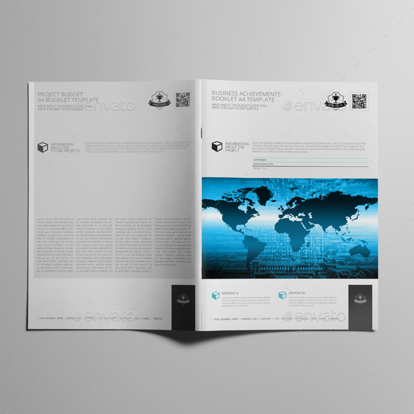 Business Achievements Booklet A4 Template by Keboto | GraphicRiver