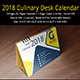Culinary Desk Calendar 2018 - GraphicRiver Item for Sale