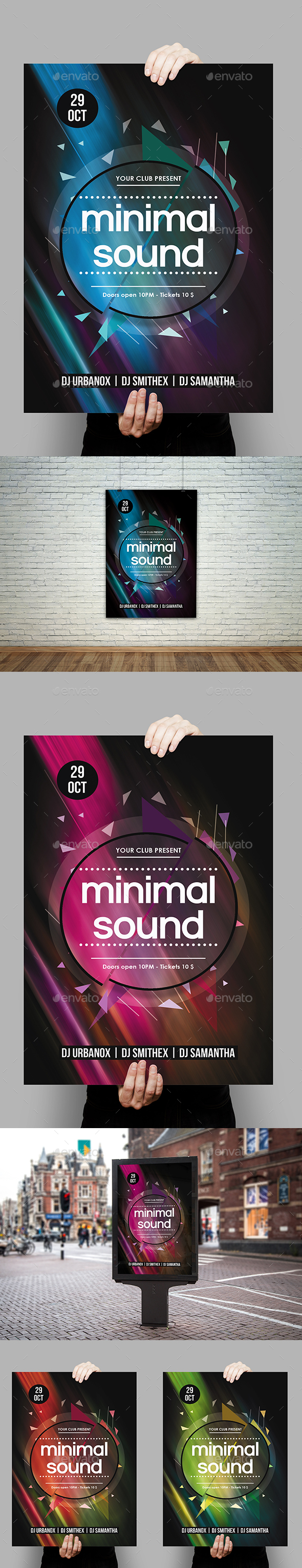 Minimal Sound Party Flyer Template - Clubs & Parties Events