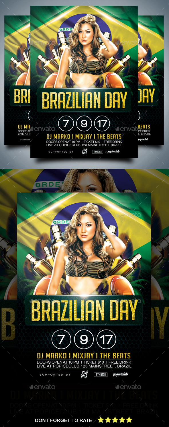 Brazilian Day Flyer - Events Flyers