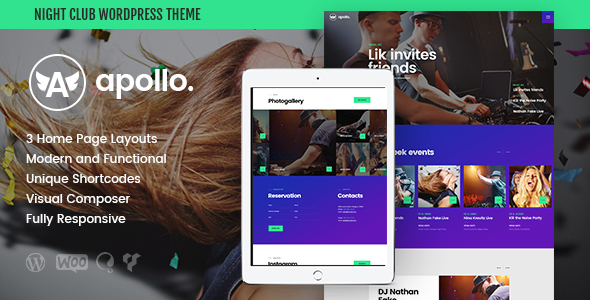 Apollo | Night Club & Event WP Theme - Nightlife Entertainment