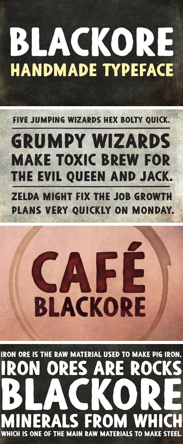 GraphicRiver Blackore font 20555697