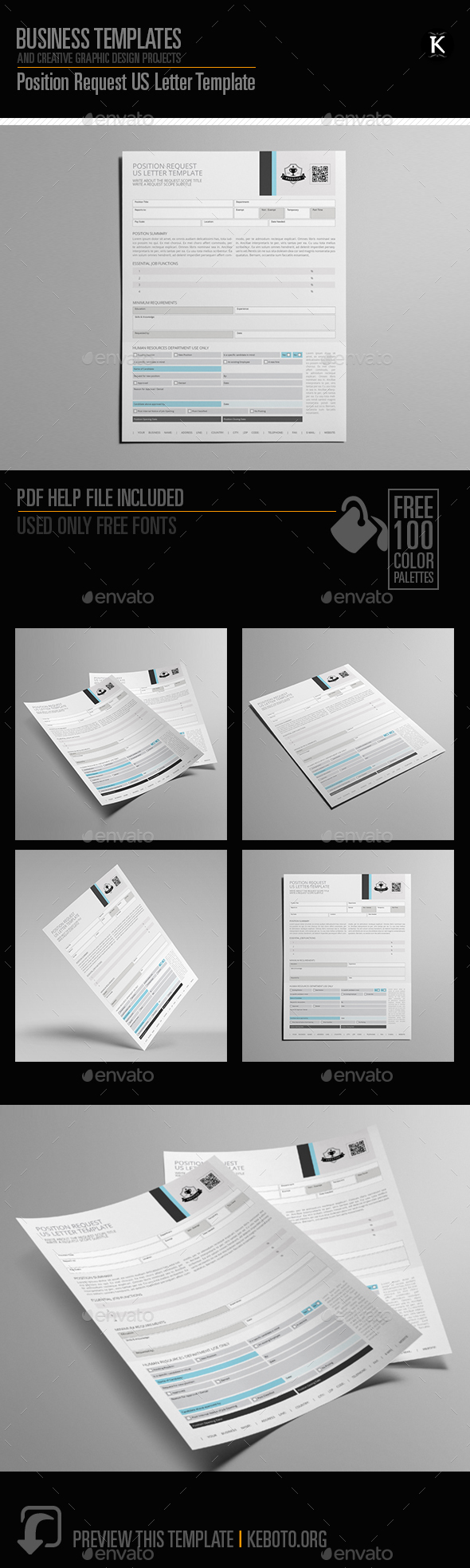 GraphicRiver Position Request US Letter Template 20555770
