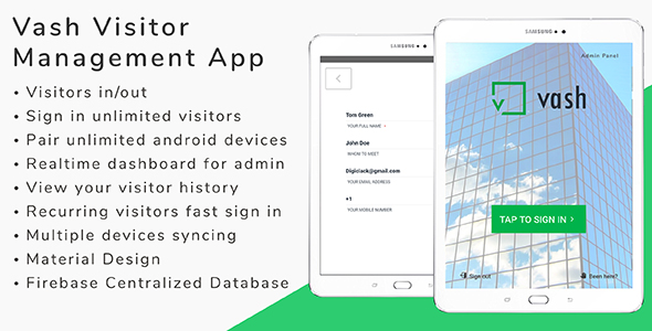 Vash - Visitor Management Android App - CodeCanyon Item for Sale