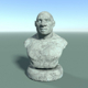 Low Poly Neanderthal Bust