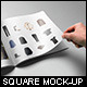Square Magazine Mock-Up - GraphicRiver Item for Sale