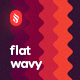 Flat Wavy Backgrounds - GraphicRiver Item for Sale