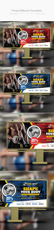 Fitness Billboard Templates - Signage Print Templates