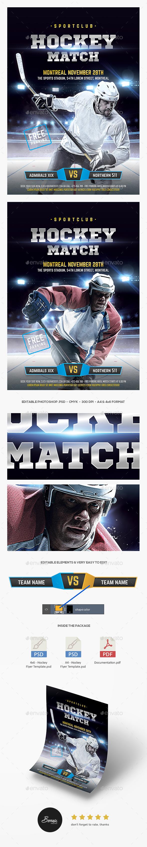 GraphicRiver Hockey Flyer 20555977