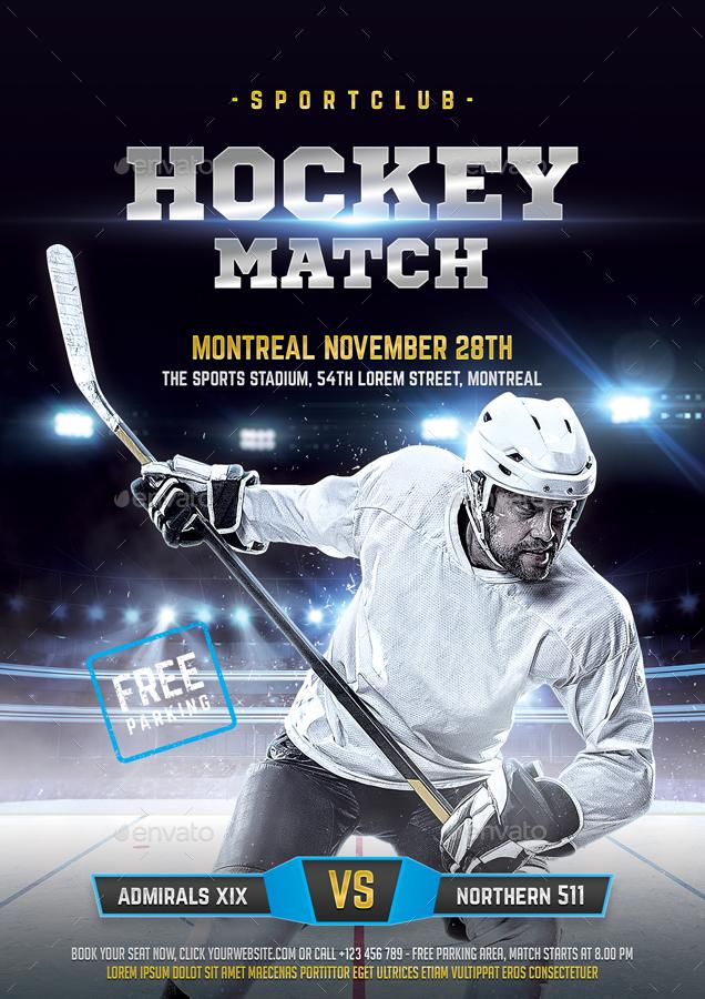 hockey flyer by bornx