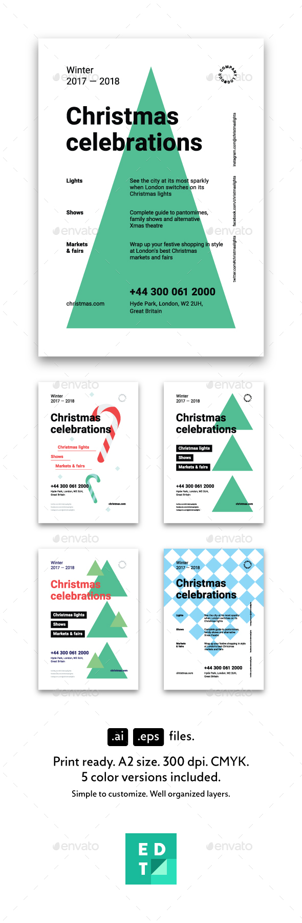 Christmas Poster Template - Holidays Events