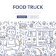 Food Truck Doodle Concept