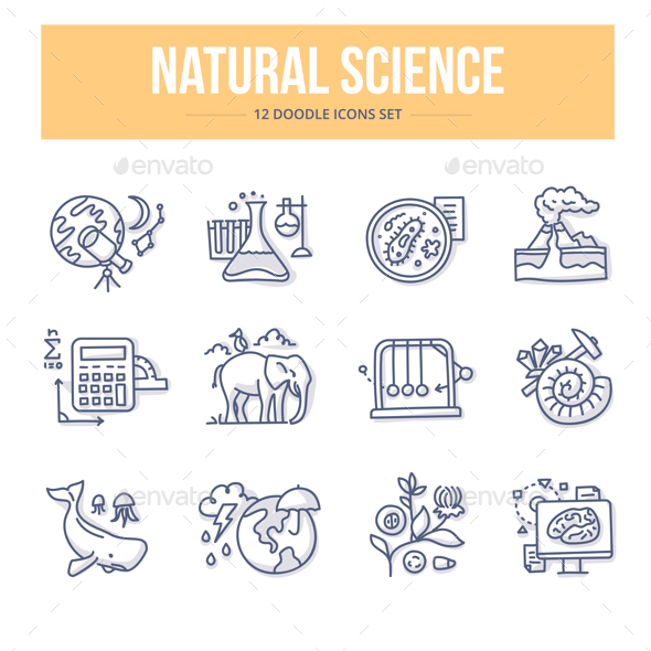 Natural Science Doodle Icons - Miscellaneous Icons