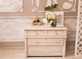 Classic interior of baby room with chest of drawers and teddy bear - PhotoDune Item for Sale
