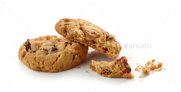 Cookie pieces and crumbs  - Stock Photo - Images