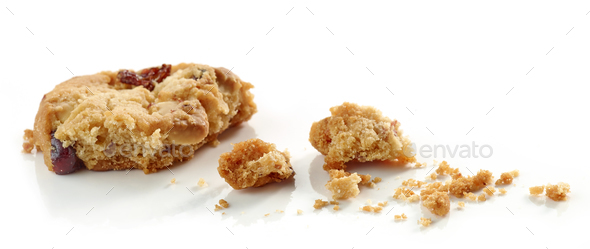 crumbs of cookie macro  - Stock Photo - Images
