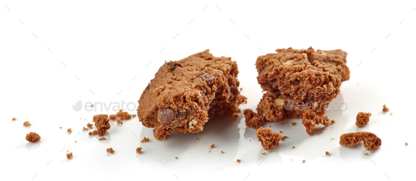 crumbs of chocolate cookie - Stock Photo - Images