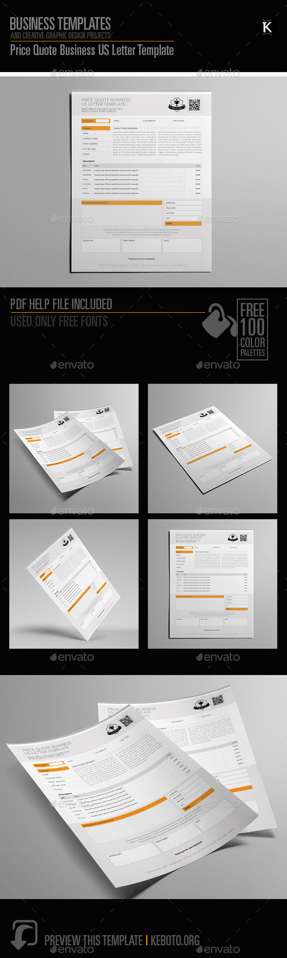 GraphicRiver Price Quote Business US Letter Template 20556304