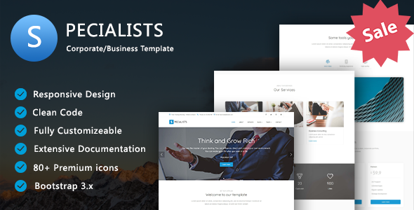 Specialists - Corporate/Business Template