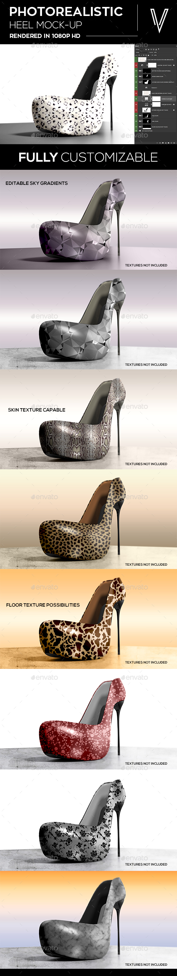 High Heel Shoes Mock-up - Miscellaneous Apparel