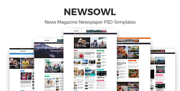 NewsOwl - News Magazine Newspaper PSD Templates - Corporate PSD Templates