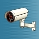 Surveillance Camera on the Wall Pop Art Vector