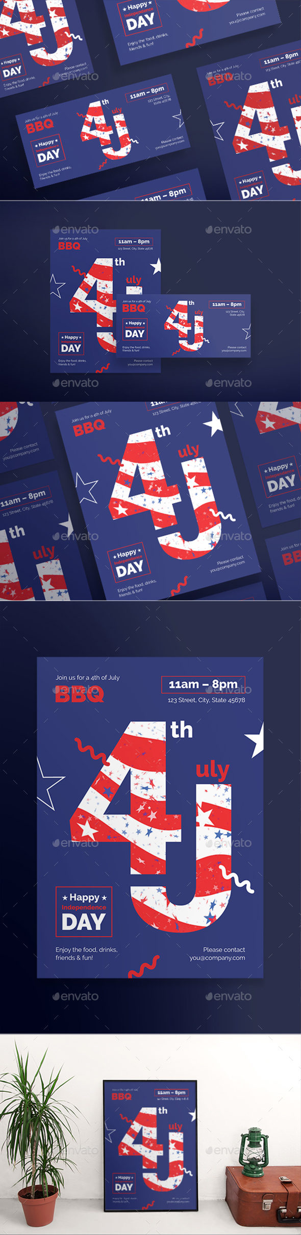 Independence Day Flyers - Holidays Events