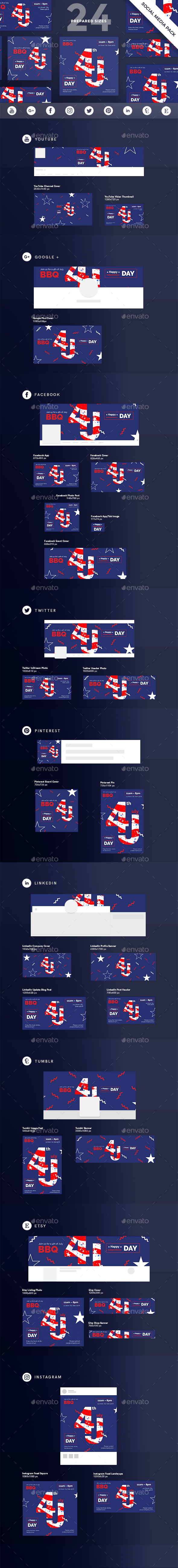GraphicRiver Independence Day Social Media Pack 20556548