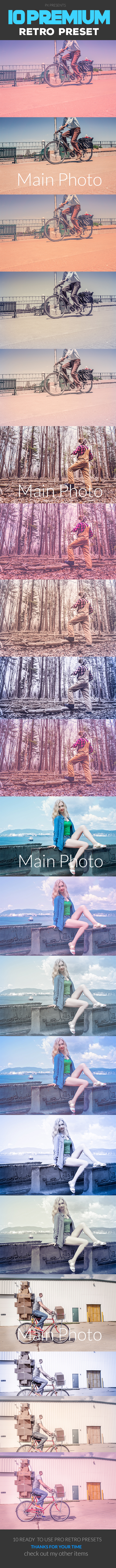 GraphicRiver 10 Retro Premium Lightroom Presets 20556597