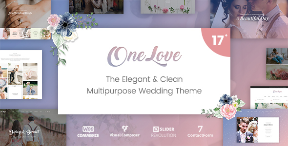OneLove - The Elegant & Clean Multipurpose Wedding WordPress Theme by catanis [20235980]