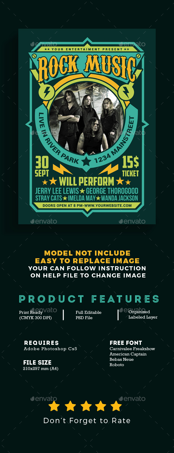 GraphicRiver Rock Music Flyer 20556632
