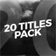 20 Modern Titles vol.2 - VideoHive Item for Sale