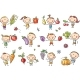 Kids with Fruits and Vegetables - GraphicRiver Item for Sale