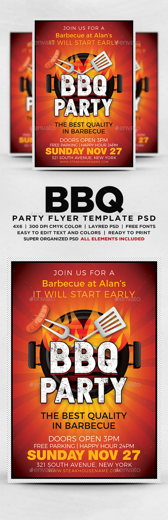 GraphicRiver BBQ Party Flyer 20556887