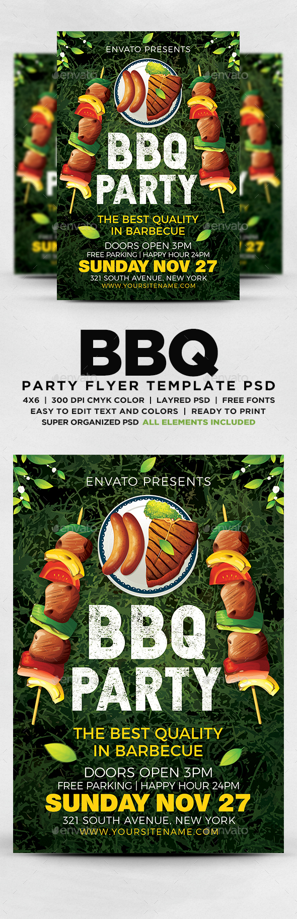 GraphicRiver BBQ Party Flyer Template 20557293