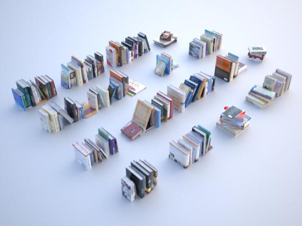 3DOcean 100 unique books collection 001 20557308