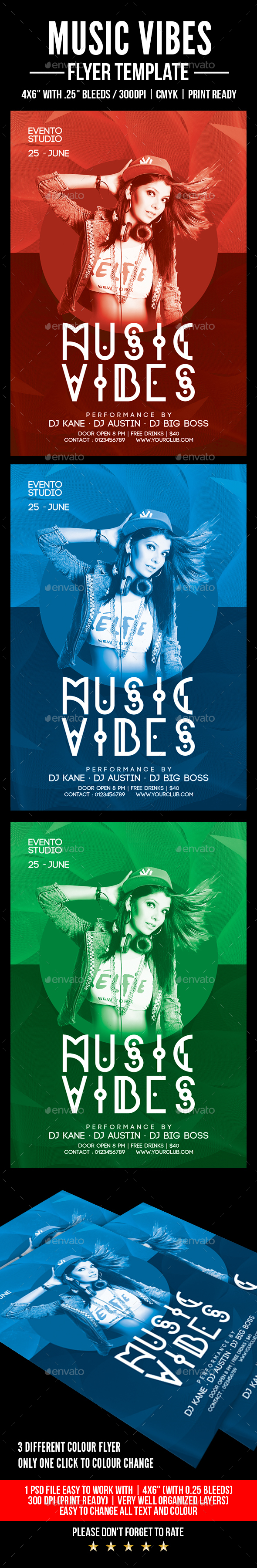 Music Vibes - Flyers Print Templates