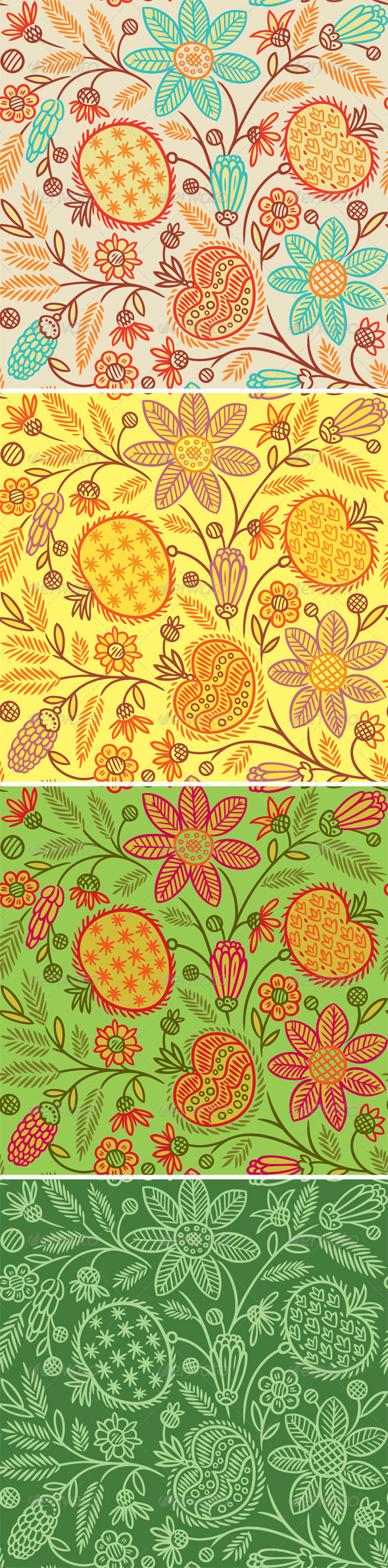 Seamless Floral Pattern - Patterns Decorative