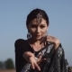 Beautiful Indian Woman Becking and Dancing in Sari
