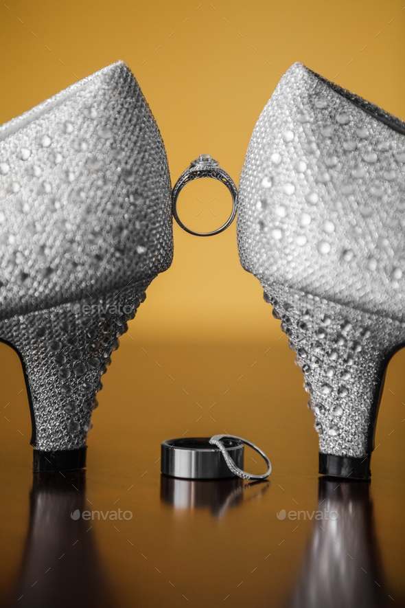 Pair of Wedding Shoes - Stock Photo - Images