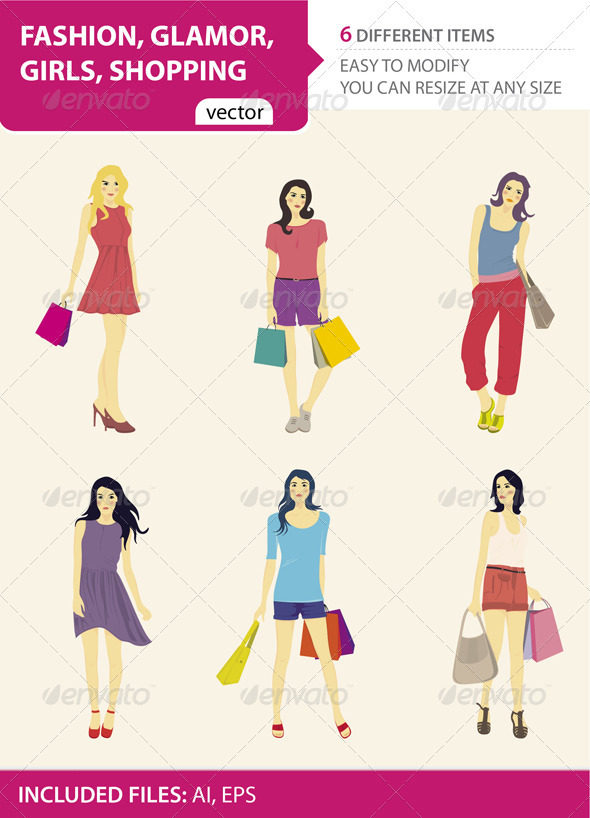 Fashion, glamor, girls, shopping - Commercial / Shopping Conceptual