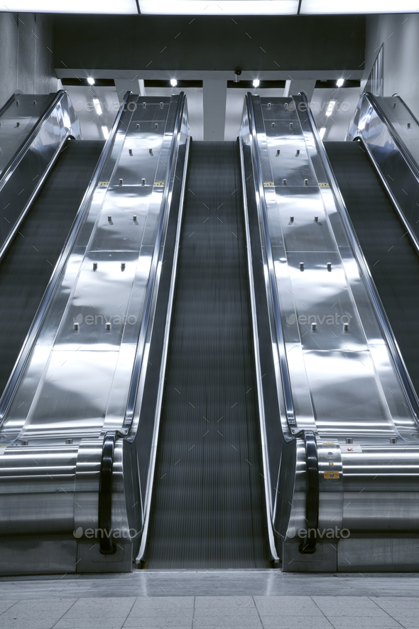 Elevator stair case - no people - Stock Photo - Images