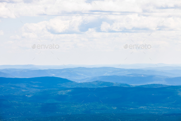 View from the Mont Jacques-Cartier - Stock Photo - Images