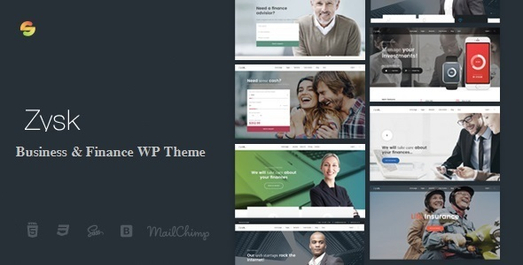Zysk - Advisior & Finance WordPress Theme