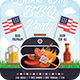 Labor Day BBQ Party Flyer