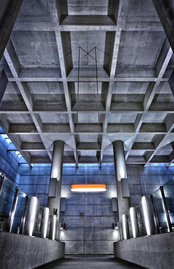 HRD metro station ceiling structure - Stock Photo - Images