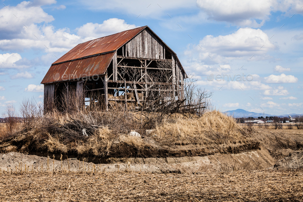 Old Abandoned Barn - Stock Photo - Images